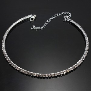silver choker collar necklace