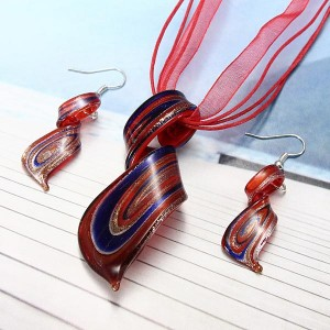 Glass Spiral Jewelry Set