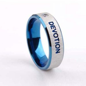 titanium couple ring