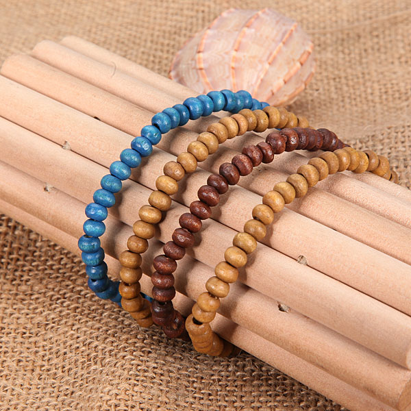 wooden beads bracelet