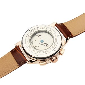 luxury leather mechanical watch