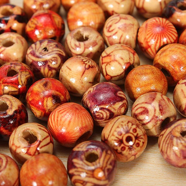 Mixed Wood Loose Beads