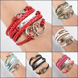 Multilayers Braided Leather Bracelet