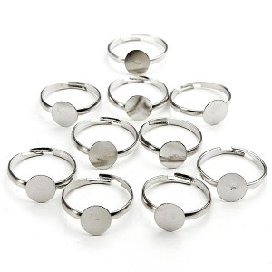 10Pcs DIY Flat Ring