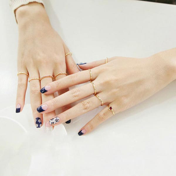 Stacking Knuckle Ring Set