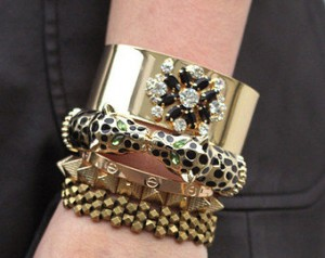 Crystal Wide Cuff Bangle