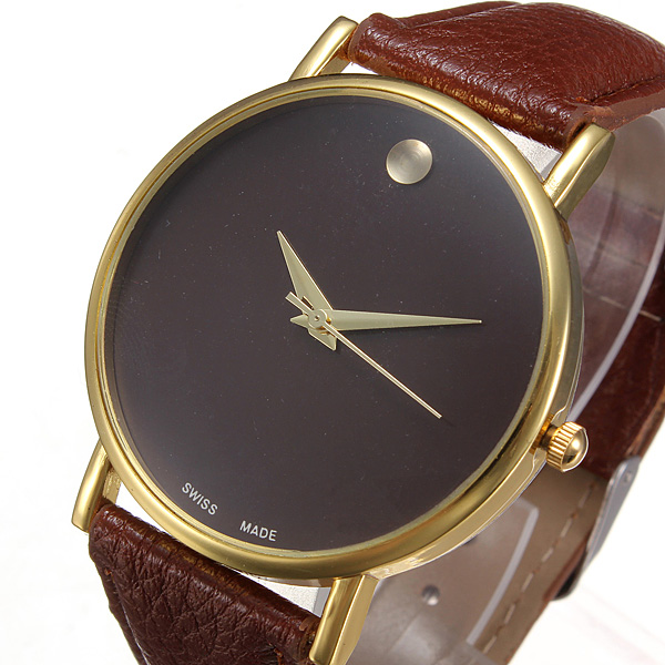 simple leather watch