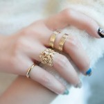 3pcs Leaves Knuckle Rings