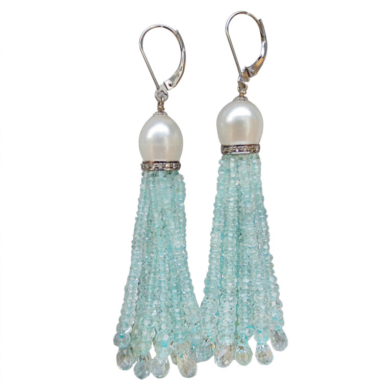 Alloy Tassel Hook Earrings