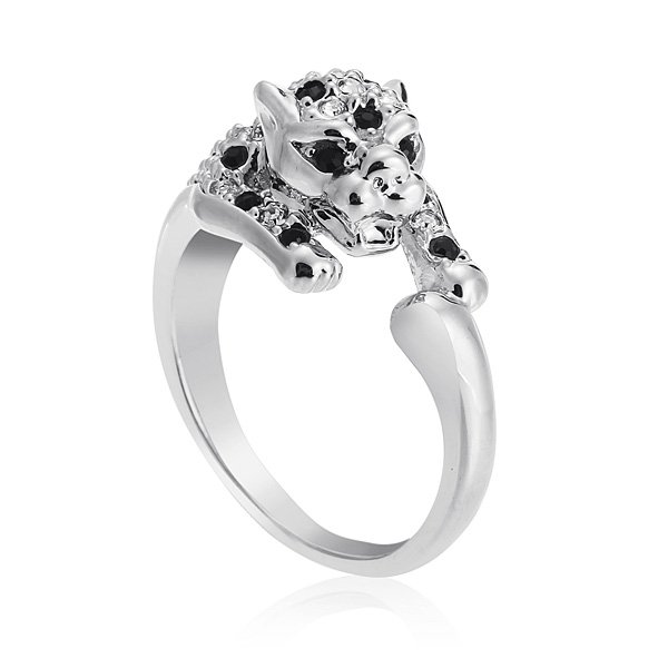 Crystal Leopard Finger Ring