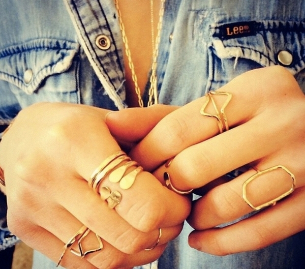 Leaves Knuckle Rings