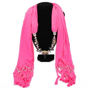 Tassel Scarf Necklace For Women