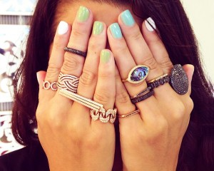 Triangle Stacking Rings