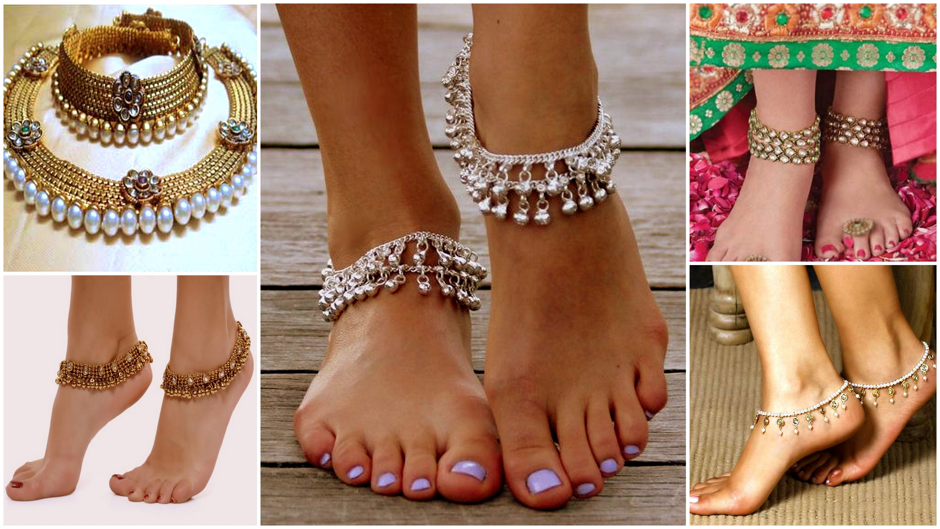 for anklet bell silver women lovely womens indian anklets bracelet pendants barefoot show ankle tone sandals gold i store adjustable jewelry product traditional sliver foot