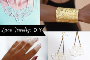 DIY Lace jewelry