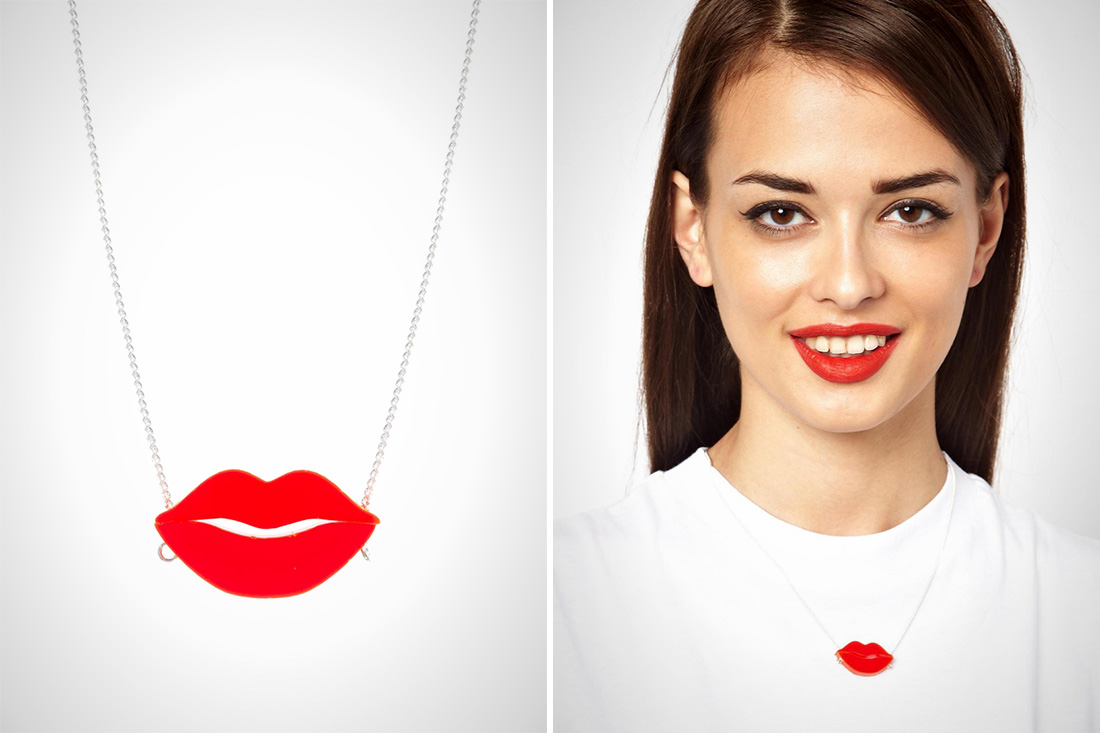 Sexy Red Lips Pendant Necklace