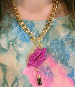 Sexy Red Lips Pendent Necklace