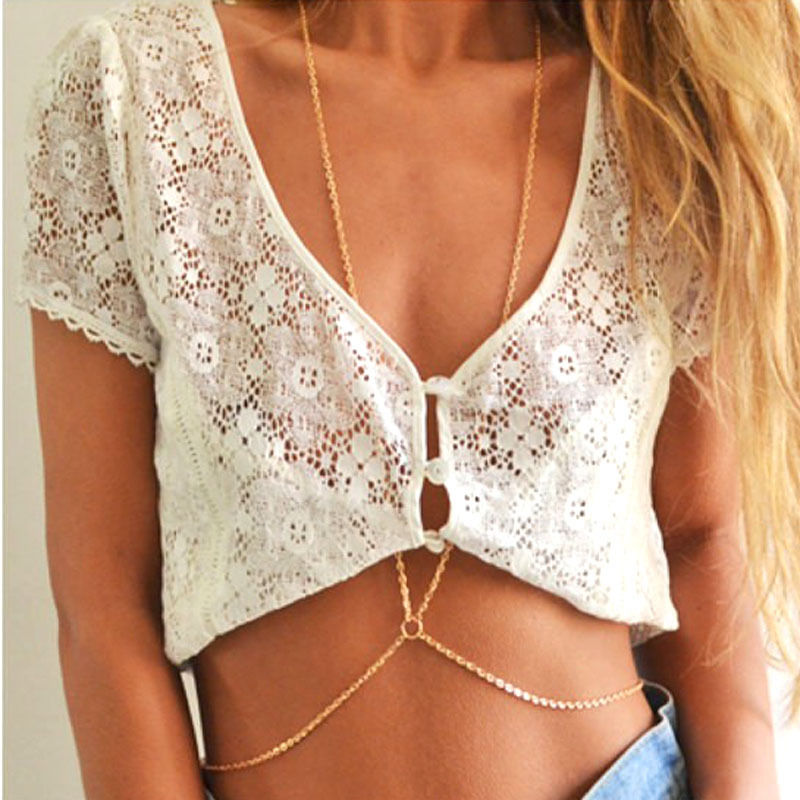 Gold Plated Body Chain