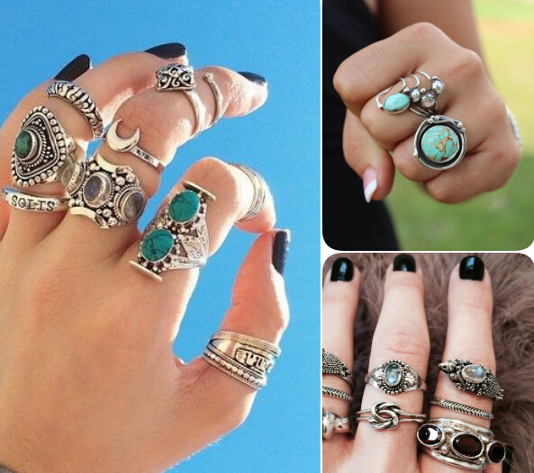 Alloy Leaf Finger Rings