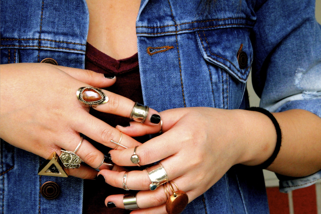 vintage finger rings