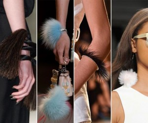 Feather And Fur Bracelets