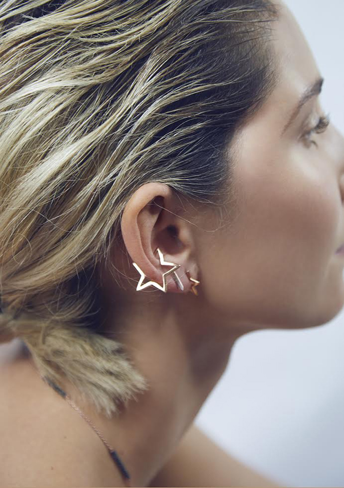 Hollow Star Ear Cuff
