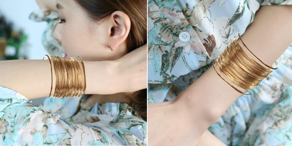 Multilayer Wide Cuff Bracelet