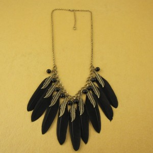 feather and fur necklace