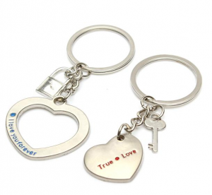 heart lovers key rings