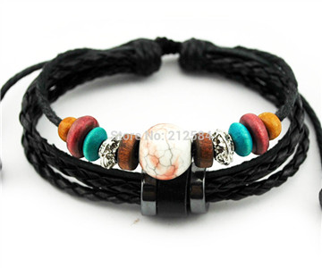 leather hemp bracelets