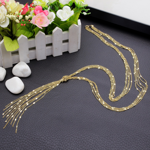 Alloy Tassel Multilayer Necklace