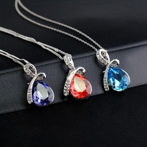 Crystal Water Drop Necklace