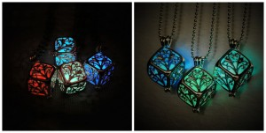 Hollow Cube Luminous Necklace