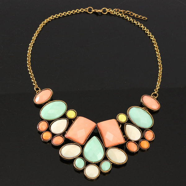 Retro Bubble Resin Necklace