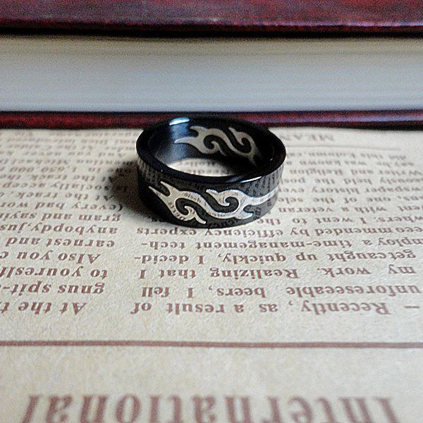 Silver Flame Men Ring