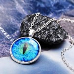 dragon cat eye necklace