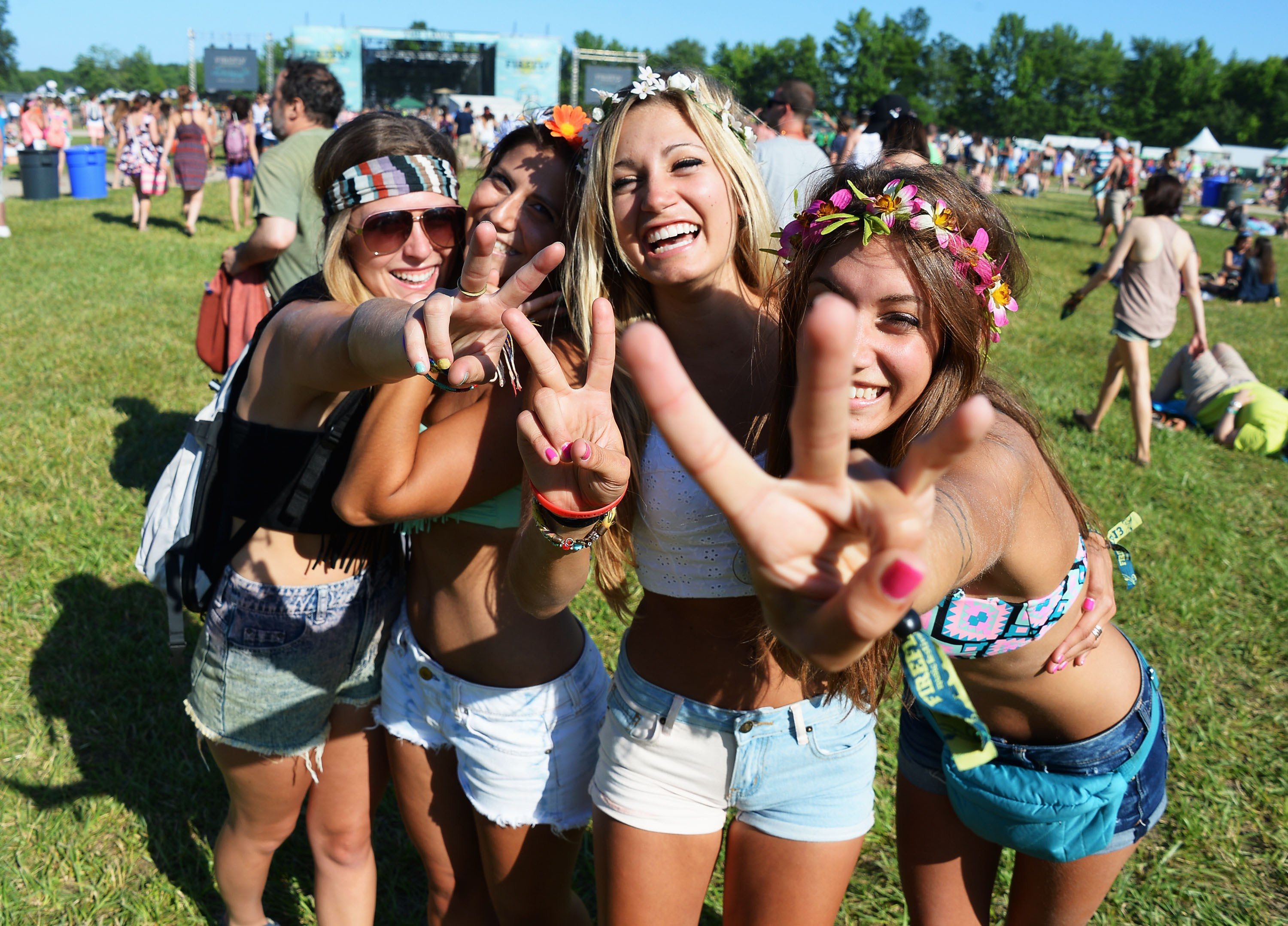 people with jewelry in the music festival