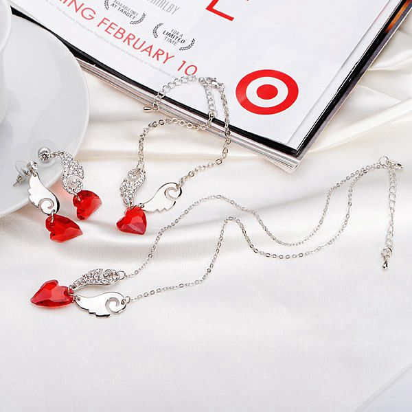 3pcs angel love jewelry set