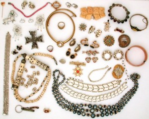 a lot of jewelry