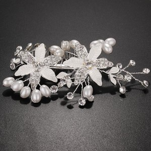flower pearl comb