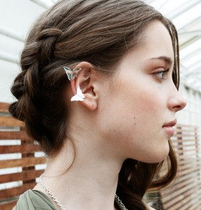 people with ear cuff jewelry
