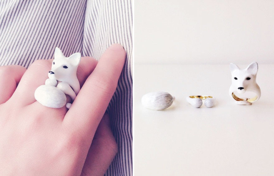 snow fox rings