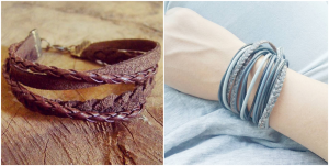 Men Multilayer Leather Wristband