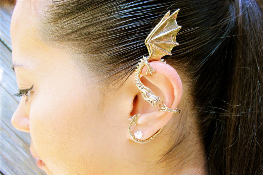 Punk dragon ear cuff