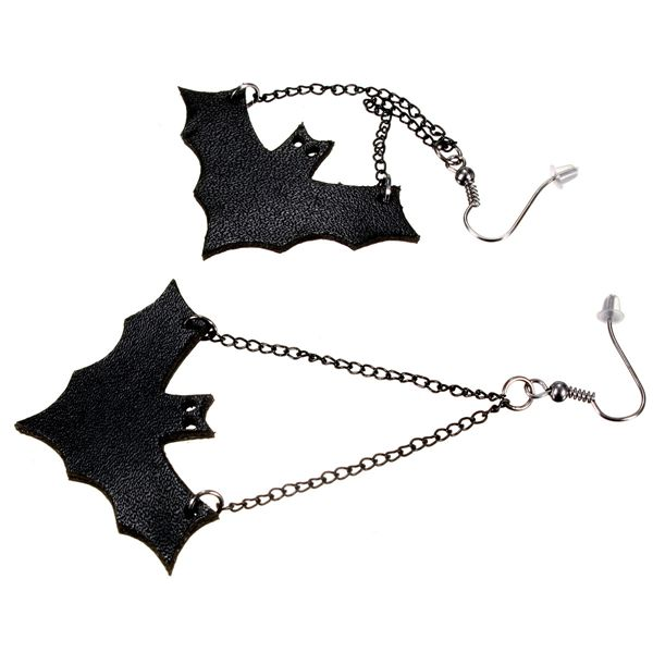 punk bat pendant earrings
