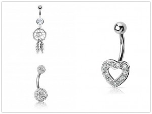 bow belly button rings