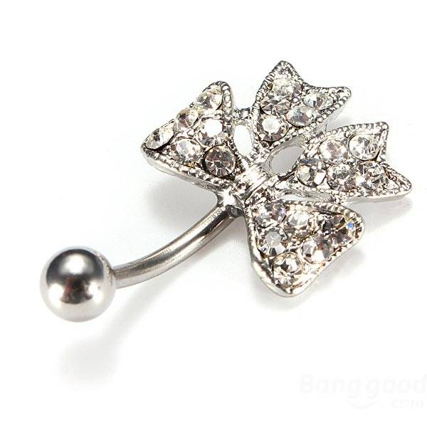 bow navel ring