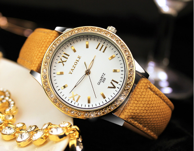 women leather wristwatch