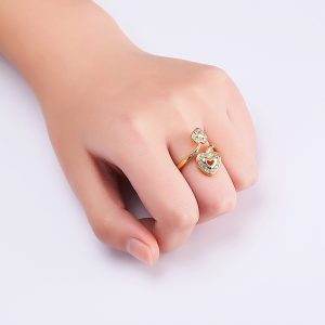 Double Heart Finger Ring