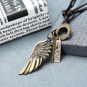 Punk Style Leather Necklace